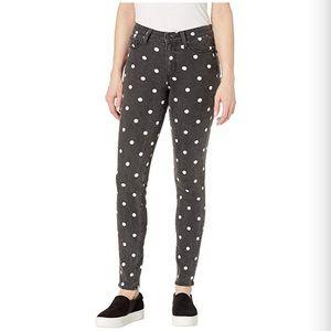 PAIGE Verdugo Ultra Skinny Polka Dot Jeans